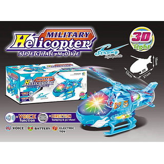 Battery Operated Military Helicopter Special Move Toy