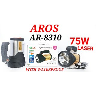 Arythe AROS AR-8310  Ultra Bright Waterproof Rechargeable 75 W Led Torch Light