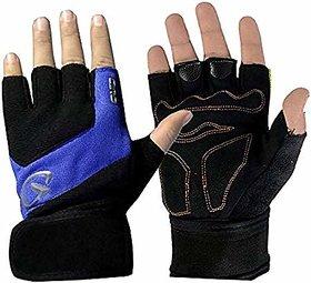 JMO27Deals Gym Gloves/Sports Gloves/Fitness Gloves/Training Gloves/Weight Lifting Gym  Fitness Gloves(Blue Black)
