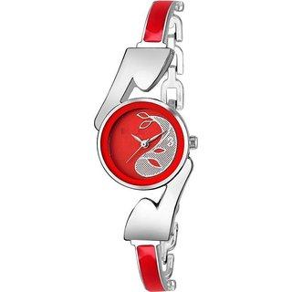 True Colors Red Bracelet Princess stone Analog Watch - For Women
