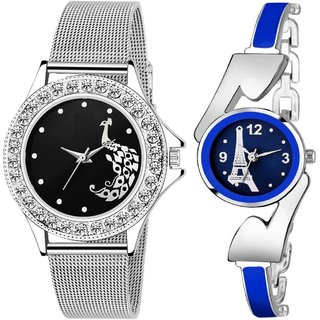 True Colors Black Dial Blue Chain Analog watch for Women and Girls Watch - For Women