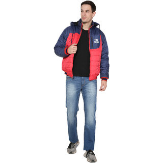 Urban Krew Trendy faux fur lined quilted casual jacket UK -014