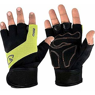 JMO27Deals Gym Gloves/Sports Gloves/Fitness Gloves/Training Gloves/Weight Lifting Gym  Fitness Gloves(Yellow/Black)