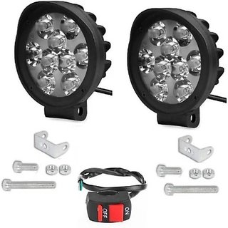 18442bc4e3d Buy 9 LED FOG LAMP SET OF 2WITH SWITCH CAP DESIGN FOR YAMAHA RX 100 Online  - Get 50% Off