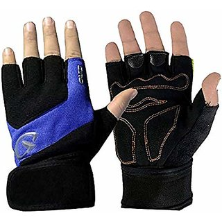 JMO27Deals Gym Gloves/Sports Gloves/Fitness Gloves/Training Gloves/Weight Lifting Gym  Fitness Gloves(Blue Black)