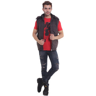 Urban Krew fancy double lined sleevess casual jacket UK - 024