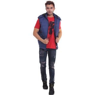 Urban Krew fancy double lined sleevess casual jacket UK - 025