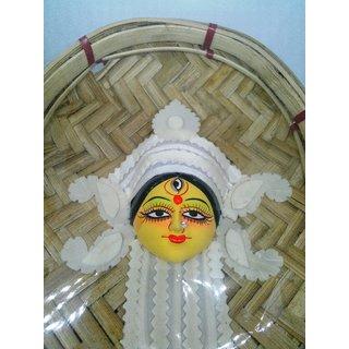 Geetanjali Bengal Handicraft Maa Durga in Bamboo Soop 01 Pc