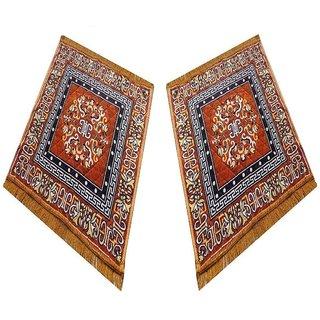 Veer Stores Golden Double Prayer Mat/Aasan / Puja Mat/Meditation Mat/Multipurpose Velvet Rug Mats (24 x 24)inch