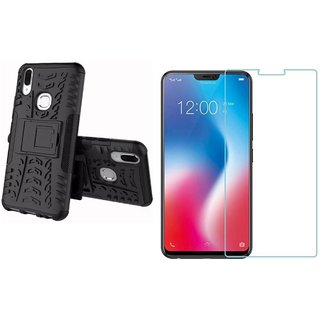 Vivo V9 Tempered Glass With Tyre Defender Cover Combo Deal Standard Quality