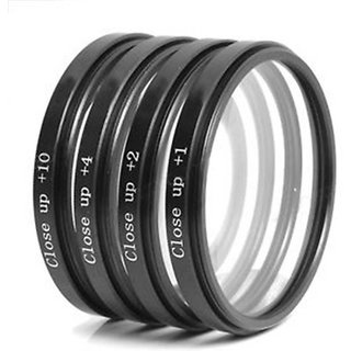 American Sia 58 mm Macro Close up Lens Filter Kit +1 +2 +4 +10 For CANON REBEL CANON EOS LENS with 4 Pocket Carry Pouch