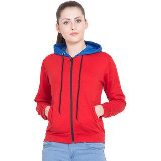 DELUX LOOK Red Fleece Jacket For Women