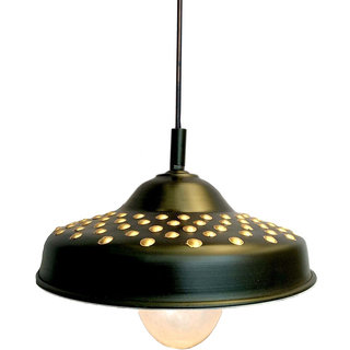 Hanging Lamp ,Ceiling Lamp Hand Painted Work  , Ceiling Light  Black Color (Suited for Home Decoration,Living Room,Balcony, etc) B22 Holder Set of 1Pc By A&H