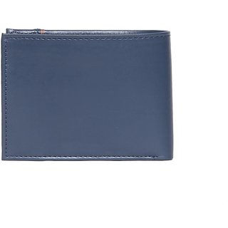 Men Casual Blue Tan Premium PU Leather Wallet