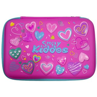 Smily Kiddos   Smily Double Compartment Pencil Case Pink