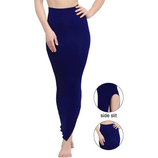Swaron Navy Blue Viscose Spandex Knitted Dyed Shapwear