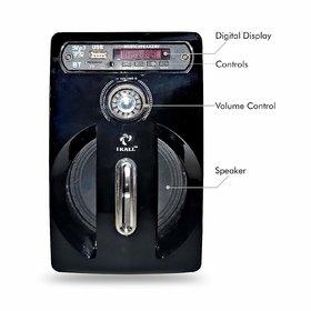 I KALL IK001 Bluetooth Single Speaker Portable Indoor Outdoor Wireless/Wired FM Speaker with Manufacturing Warranty