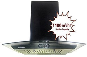 Bright Flame Kitchen Chimney 60cm, 1100 Suction With Oil Collector