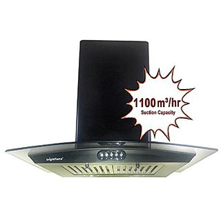Bright Flame Kitchen Chimney 60cm 1100 Suction With Oil Collector