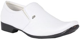 White Party Genuine Leather Formal Shoes
