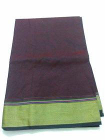 Brown Colour Silk Saree Grand Pallu Negamum W/B Silk Full Zari Work Gadwa Saree