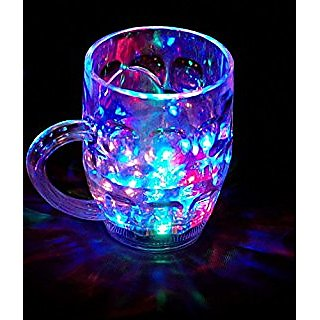 Rainbow Plastic Magic color cup with LED Light Party Mug