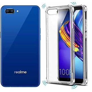 GT-TECH Silicon Flexible Protective Shockproof Corner Back Case Cover For OPPO Realme C 1