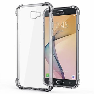 GT-TECH Silicon Flexible Protective Shockproof Corner Back Case Cover For Samsung J 7 PRIME