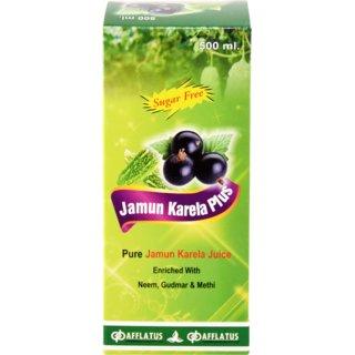 Afflatus Jamun Karela Plus 100 Ayurvedic Juice 500ml with Neem Gudmar and Methi
