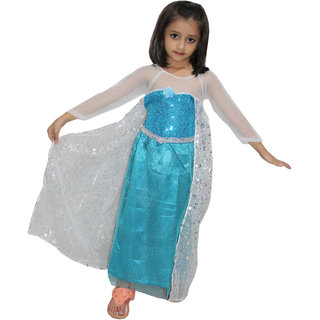 29882cbfa54 Buy Kaku fancy dresses Princes Elsa Western Costume For Kids School Annual  function Theme Party Competition Online - Get 45% Off