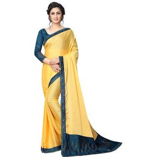 af3c5e4f39028 Buy Women s Latest Design Yellow Color White Rangoli( Silk )Stone Work Saree  Online - Get 70% Off