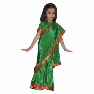 Buy kaku fancy dresses Saree In Green Color 92fe767d6