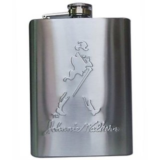 Johnnie Walker Stainless Steel Hip Flask - 8 oz Best gift for Party Marriages