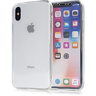 Zyka 360 Degree Covers for iPhone X Transparent Front Back Case Cover (Clear)