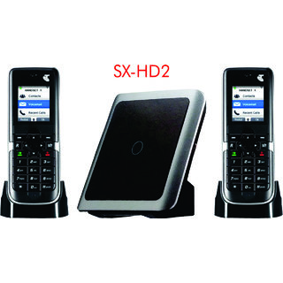 SAGEMCOM- 2 Wireless INTERCOM Cordless Phone with Base Range of 50 Meters Also Support BSNL/MTNL LINE (White)