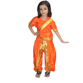 78995ca00ea Buy Kaku Fancy Dresses Marathi Girl Indian State Traditional Wear Costume  For Kids School Annual function Theme partyShows Online - Get 43% Off
