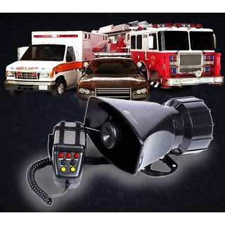 7 Tone Siren Horn with Mic For All Cars Trucks Mini Trucks - Loud Siren With 7 Different Great Sounds