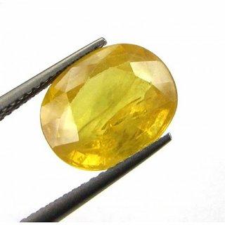 Yellow Sapphire Stone Original Certified Loose Precious Pukhraj Gemstone 6.25 Ratti to 7.25 Ratti By Proaom Jaipur Stone