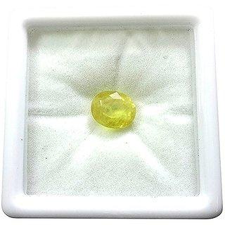 Proaom Jaipur Stone s 6.25 Ratti to 7.25 Ratti Natural Certified Cylone Yellow Sapphire (Pukhraj) Gemstone
