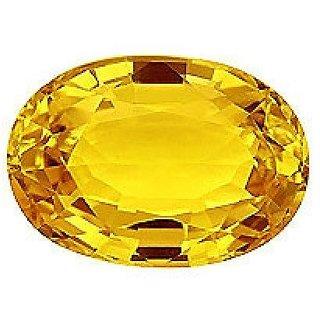 Gemstone Top Quality Natural Pukhraj Stone Oval Shape 10.25 Ratti to 11.25 Ratti Yellow Sapphire GemstoneBy Proaom Jipur Stone