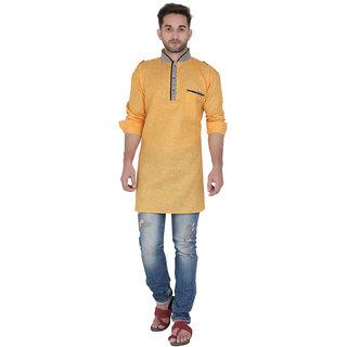 TODAY FASHION Yellow Pathani Kurta For Men's