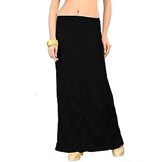 Ladies Inskirt Cotton and Color sustain - Best Quality Black