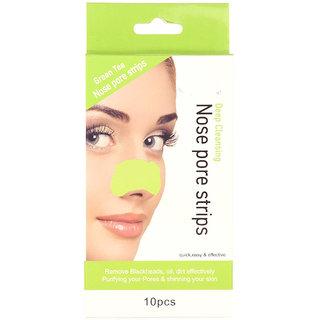 Green Tea Nose Pore Blackhead Remover Strips 10 Pcs