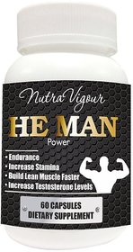 He Man Power bodybuilding supplement - 60 VEG Capsules Tribulus Terrestris ( PRODUCT PRIVACY PACKAGE )