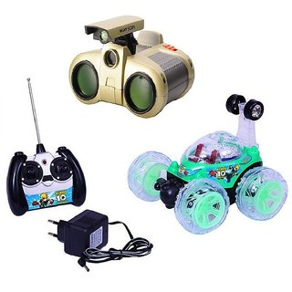 Remote control Rechargeable Stunt Car with binocular toy