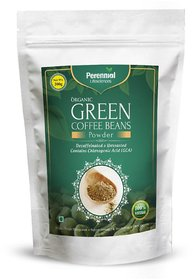 Perennial Lifesciences Organic Green Coffee Beans Powder 200 gm Unflavoured  For Weight Management