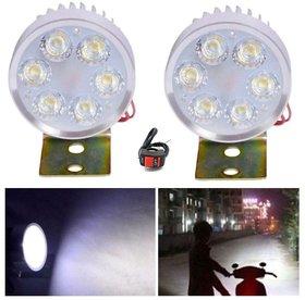 RA 6 Led Fog Light For Bikes/Car - Bright White