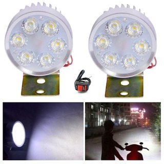 RA 6 Led Fog Light For Bikes/Car - Bright White