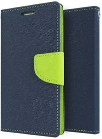 Mercury Goospery Fancy Diary Wallet Flip Case Cover for  Samsung Galaxy A7 (2016) Blue/Green