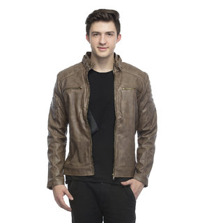 Lambency Men's Brown Jackets